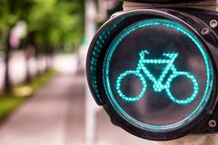 Traffic light for bikes Royalty Free Stock Photos