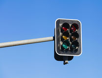 Traffic Light on blue sky background Stock Photo
