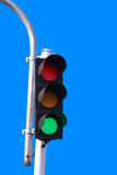 Traffic Light in a blue sky Stock Image