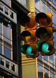 Traffic light in Buenos Aires Stock Images