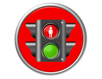 Traffic light button Royalty Free Stock Image