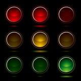 Traffic light buttons Stock Photos
