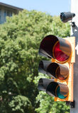 Traffic light with buzzer Royalty Free Stock Photo