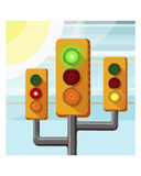 Traffic light cactus Stock Photos