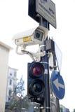 Traffic light with camera surveillance Royalty Free Stock Image