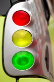 Traffic light and car light Stock Photography
