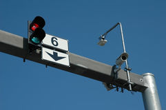 Traffic-light and cctv Royalty Free Stock Image