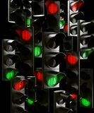 Traffic light chaos royalty free stock photo