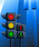 Traffic light in the city Royalty Free Stock Images