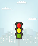 Traffic light in the city Royalty Free Stock Photo