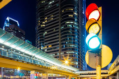 Traffic light in city Stock Image