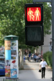 Traffic light on city street Stock Images