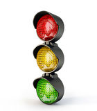 Traffic light. Colorful traffic light on a white background Royalty Free Stock Image