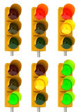 Traffic light combinations Stock Images