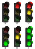 Traffic light combinations Royalty Free Stock Photos