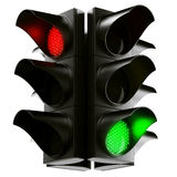 Traffic light cross stock illustration
