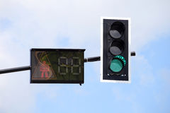 Traffic Light with cross walk light Royalty Free Stock Images