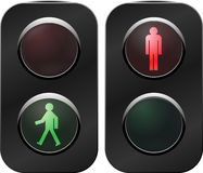 Traffic light crosswalk Royalty Free Stock Images