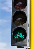 Traffic light for cyclists Stock Photography