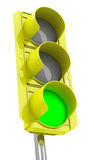 The traffic light Royalty Free Stock Photos