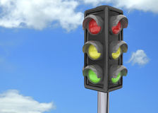 Traffic Light - 3D Royalty Free Stock Photo