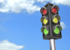 Traffic Light - 3D Stock Photos