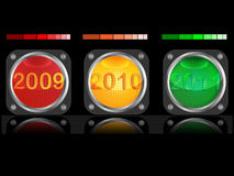 Traffic light and date Royalty Free Stock Photos