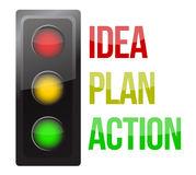 Traffic light design planning business Stock Image