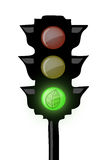 Traffic light ecological Royalty Free Stock Photography
