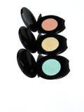 Eyeshadow trio - traffic light colours Stock Photo