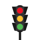 Traffic light flat design  illustration Stock Photos
