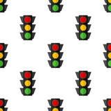 Traffic Light Flat Icon Seamless Pattern vector illustration