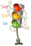 Traffic light. Follow the rules of the road. Rules for pedestria Stock Photo