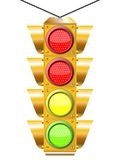 Traffic light with four Royalty Free Stock Image
