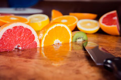 Traffic light fruit, fruit on the table Royalty Free Stock Image