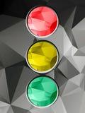 Traffic light on geometric background Stock Photo
