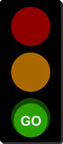 Traffic Light Go signal. Traffic light sign with Go signal Stock Photography