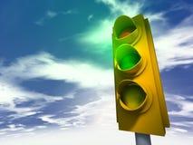 Traffic Light - green. Traffic Light 3d model - green royalty free illustration
