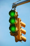 Traffic Light Green Stock Photography