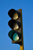 Traffic light green color Stock Photo