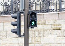 Traffic light. Green color. Royalty Free Stock Image