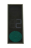 Traffic light. Green color with countdown of seconds on white ba Royalty Free Stock Photos