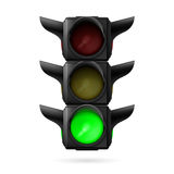 Traffic light with green lamp Royalty Free Stock Images