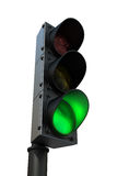 Traffic light with green light Royalty Free Stock Image