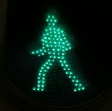 Traffic light green man 2. Green traffic light man in walking position Stock Photo