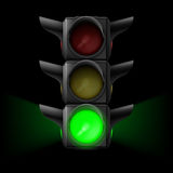 Traffic light with green on Royalty Free Stock Image