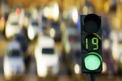 Traffic light green stock photography