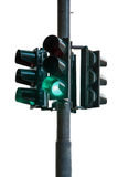Traffic Light Green. Light signal mainly used in road traffic at intersections Royalty Free Stock Image