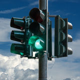 Traffic Light Green. Light signal mainly used in road traffic at intersections Royalty Free Stock Photo