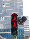Traffic light in Hamburg Royalty Free Stock Images